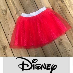 DISNEY Minnie skirt : size 7/8 BNWOT red, tulle